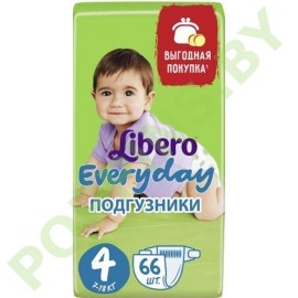 Подгузники Libero Everyday 4 Maxi (7-18кг) 66шт