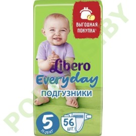 Подгузники Libero Everyday 5 Extra Large (11-25кг) 56шт