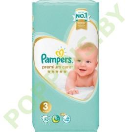 Подгузники Pampers  Premium Care 3 (6-10кг) 52шт + ПОДАРОК