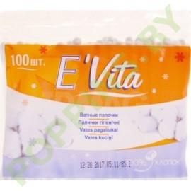 Ватные палочки E`Vita 100 шт