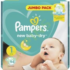 АКЦИЯ Подгузники Pampers New Baby 1 Newborn (2-5кг) 94шт