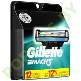 Кассеты сменные Gillette Mach3 (12шт)