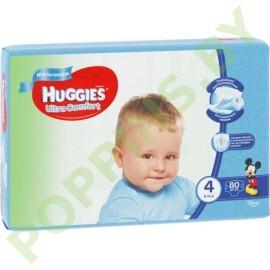 Подгузники для мальчиков Huggies Ultra Comfort 4 (8-14кг) 80шт