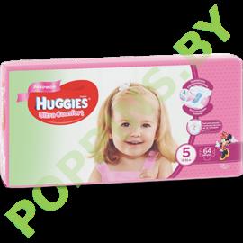 Подгузники для девочек Huggies Ultra Comfort 5 (12-22кг) 64шт