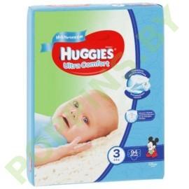 Подгузники для мальчиков Huggies Ultra Comfort 3 (5-9кг) 94шт