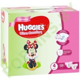 АКЦИЯ Подгузники для девочек Huggies Ultra Comfort 4 (8-14кг) 126шт