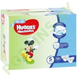 АКЦИЯ Подгузники для мальчиков Huggies Ultra Comfort 5 (12-22кг) 105шт
