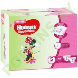 АКЦИЯ Подгузники для девочек Huggies Ultra Comfort 5 (12-22кг) 105шт