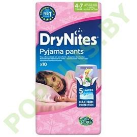Ночные трусики Huggies DryNites для девочек 4-7лет 10шт