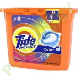АКЦИЯ Капсулы Tide 3в1 Pods Color 23шт