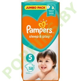 Подгузники Pampers Sleep&Play 5 Junior (11-16кг) 58шт