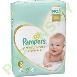 Подгузники Pampers  Premium Care 3 (6-10кг) 74шт