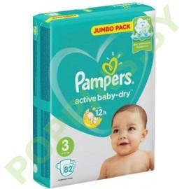 АКЦИЯ Подгузники Pampers Active Baby-Dry 3 (6-10кг) 82шт