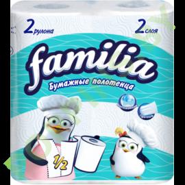 АКЦИЯ Полотенца бумажные Familia (2 слоя) 2рул