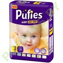 Подгузники Pufies Baby Art&Dry 3 Midi (4-9кг) 74шт