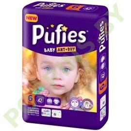 Подгузники Pufies Baby Art&Dry 6 Extra Large (13+кг) 42шт