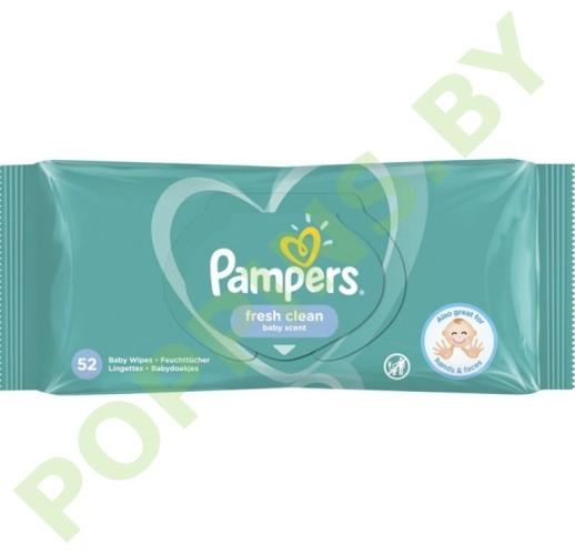 Салфетки влажные Pampers Fresh Clean 52шт