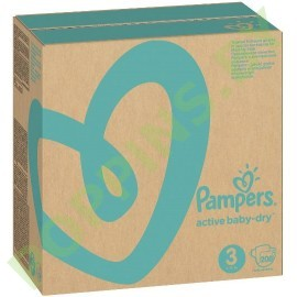 Подгузники Pampers Active Baby-Dry 3 (6-10кг) 208шт