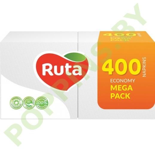 Салфетки бумажные Ruta Mega Pack (белые) 400шт