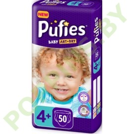 Подгузники Pufies Baby Art & Dry 4+Maxi plus (9-16кг) 50шт