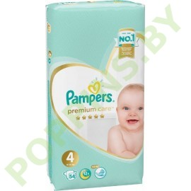 Подгузники Pampers  Premium Care 4 (9-14кг) 54шт