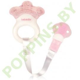 Прорезыватель охлаждающий на ленте Bebe D`or (розовый) арт.8520