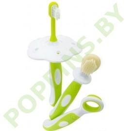 Набор первых зубных щеток  Happy Care (3шт)