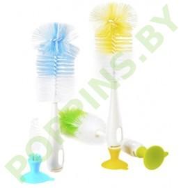 Ершик для мытья бутылочек + для мытья сосок  Happy Care арт.781