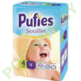 Подгузники Pufies Sensitive 4 Maxi (7-14кг) 18шт + Подарок