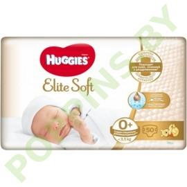 Подгузники Huggies Elite Soft 0+ (до 3,5кг) 50шт