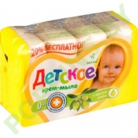 """Крем-мыло """"Детское"""" (Весна) с маслом оливы 4x75г"""