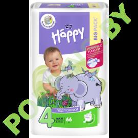 Подгузники Bella Baby Happy 4 Maxi (8-18кг) 66шт