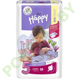Подгузники Bella Baby Happy 5 Junior (12-25кг) 58шт