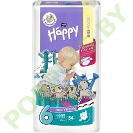 Подгузники Bella Baby Happy 6 Extra Large (16+кг) 54