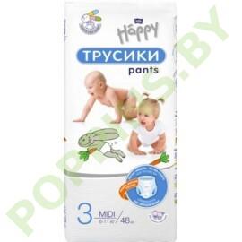 NEW Трусики Bella Baby Happy 3 Midi (6-11кг) 48шт