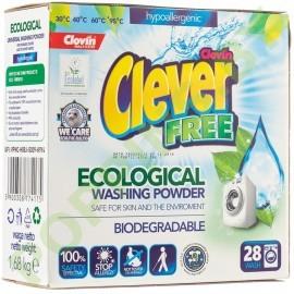 Гипоаллергенный бесфосфатный стиральный порошок Clever Free 1,68кг