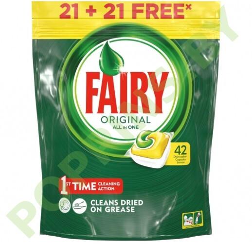 Средство для ПММ (капсулы) Fairy Original All in One Lemon 42шт
