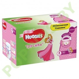 АКЦИЯ Трусики для девочек Huggies 4 (9-14кг) 104шт