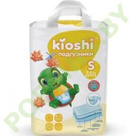 NEW Подгузники для детей Kioshi  S (3- 6кг) 62шт