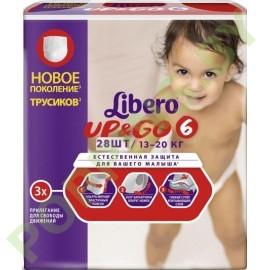 Подгузники-трусики Libero Up&Go 6 (13-20кг) 28шт