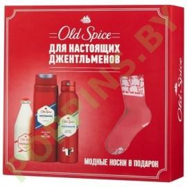 Набор Old Spice Whitewater (Аэроз.дезодорант, гель для душа, лосьон после бритья, носки )