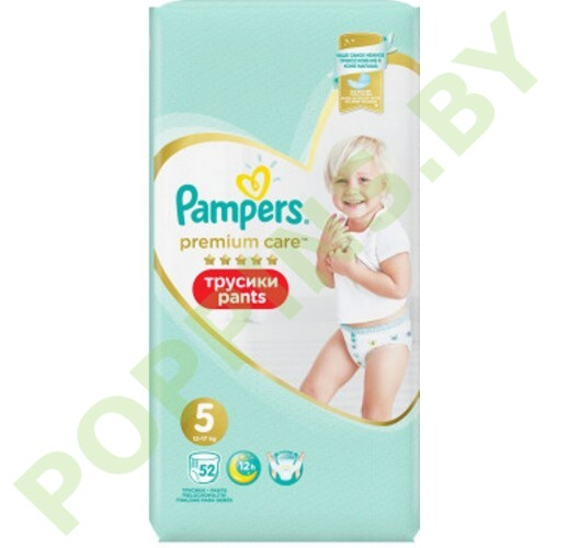Трусики Pampers Premium Care Pants 5 (12-17кг) 52шт