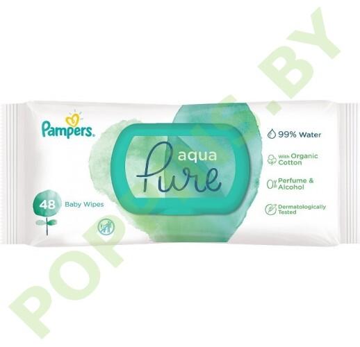 Салфетки влажные Pampers Aqua Pure с крышкой 48шт