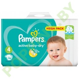 Подгузники Pampers Active Baby-Dry 4 (9-14кг) 106шт