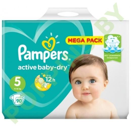 Подгузники Pampers Active Baby-Dry 5 (11-16кг) 90шт