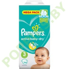 Подгузники Pampers Active Baby-Dry 3 (6-10кг) 124шт