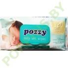 Салфетки влажные Pozzy Mega с крышечкой 120шт зеленые