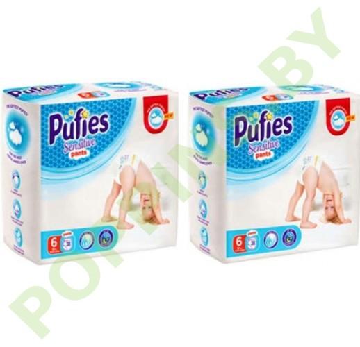 Трусики Pufies Sensitive 6 Extra Large (15+кг) 38x2=76шт