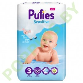 Подгузники Pufies Sensitive 3 (6-10кг) 66шт