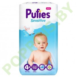 Подгузники Pufies Sensitive 4+ (10-15кг) 52шт